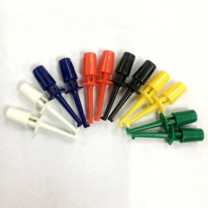 6 Colors Mini Smd Ic Test Hook Clip Grabbers Probe Jumper For Electronic