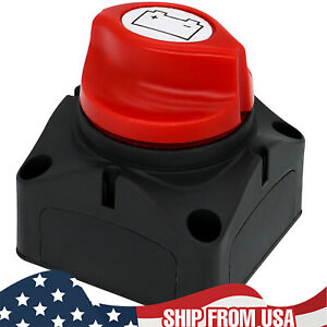 Auto Car Battery Disconnect Safety Kill Cut off Switch Brass Terminals Cut Off