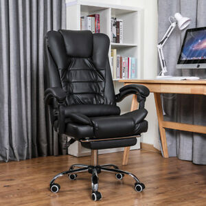 Executive Computer Office Chair Swivel Recliner Gaming Chairs Leather Desk Seat