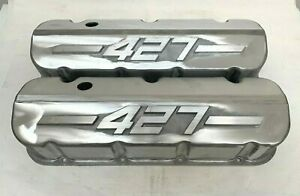 Big Block Chevy 427 Tall Valve Covers Unfinished W Raised Logo Ansen Usa