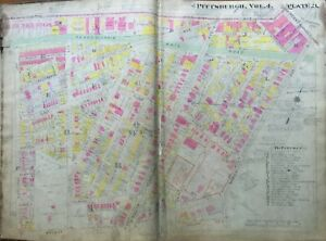 1911 Shadyside Pittsburgh Pa Sellers House Hunt Armory Walnut Centre Atlas Map