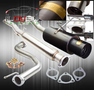 75mm Race Catback Exhaust System 4 Gunmetal Tip For 1994 2001 Integra Rs Gs Ls