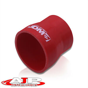 Turbo Jdm 2 5 To 3 Silicone Hose Reducer Coupler Red For Camaro Tahoe Corvette