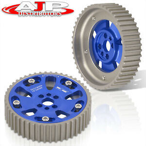 Adjustable Camshaft Cam Gear Pulley Sprocket Blue For 1989 2002 Nissan Skyline