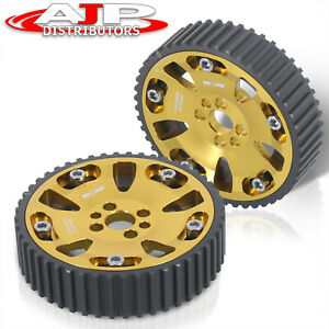 Adjustable Camshaft Cam Gear Pulley Sprocket Gold For 1989 2002 Nissan Skyline