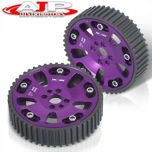 Adjustable Camshaft Cam Gear Pulley Sprocket Purple For 1989 2002 Nissan Skyline