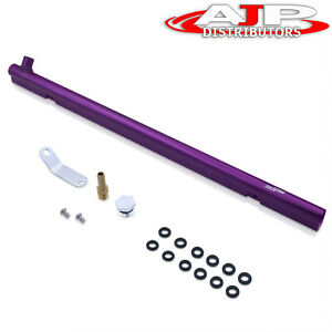 Top Feed Injector Fuel Injection Railing Purple For Nissan Skyline Rb30de Engine