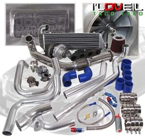 For 02 05 Honda Civic Si Ep3 T3 T4 Jdm Turbo Kit Upgrade Piping With Intercooler