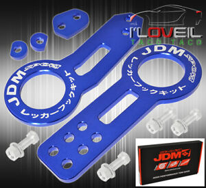 For Subaru Jdm Sport F R Tow Hook Support Bracket Towing Haul Hitch Arm Set Blue