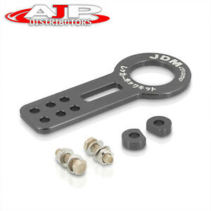 For Honda Jdm Sport Front Tow Hook Support Bracket Towing Haul Hitch Set Gray