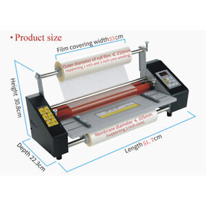 A3 Size Paper Laminating Machine Automatic Feeding Roll Laminator Four Rollers