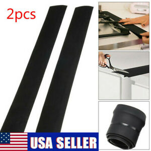 2x Silicone Kitchen Stove Counter Gap Cover Oven Guard Spill Seal Slit Filler Us