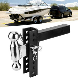 Adjustable Trailer Drop Hitch Ball Mount For 2 Receiver Hauling Towing