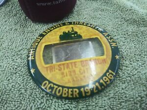 Antique Engine Show 1961 Hit And Miss Gas Engine Button Tri City Kansas Others