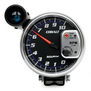 Autometer 6299 Cobalt Shift Lite Tachometer With Fluorescent Red Pointer