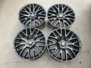 4 Ford Mustang 19 Staggered Factory Oem Black Track Pack Wheels Rims Tires