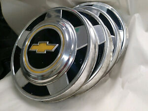 Set Of 4 1973 1987 Chevy Truck K 10 1 2 Ton 2wd 10 3 4 Dog Dish Hubcaps Oem