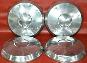 1960 1961 1962 Ford Fairlane Galaxie Dog Dish Center Caps Poverty 10 1 2 Set 4