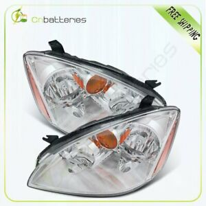One Pair For 2002 2004 Nissan Altima Headlights Assembly Left Right Clear Lamps