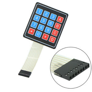 Usa 4x4 Matrix Keyboard 16 Key Membrane Switch Keypad Accessory For Arduino avr