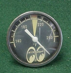 Vintage Moon Oil Temp Temperature Gauge Scta Gasser Top Fuel Digger