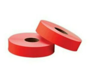 Office Depot Fluorescent Red Two line Pricing Labels Od202 609 225 Monarch 1136