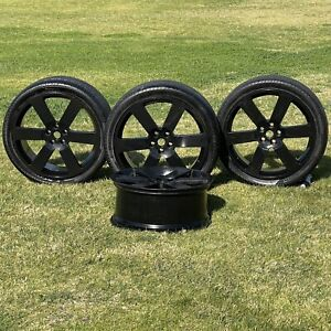 Tsw Redbourne 4 Wheel Rims 3 Pirelli Tires 22 x9 5 Black Alloy Range Rover