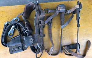 Vintage Klein Sons 16 1 2 Lineman Pole Climbing Gaff Spikes Tree Climbers 1903