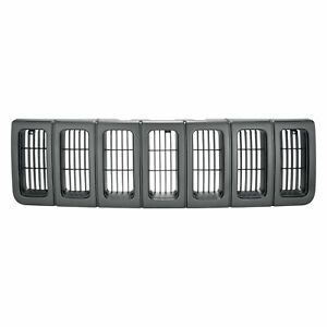 Grille Argent black Fits 1996 1997 1998 Jeep Grand Cherokee Laredo