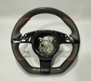 Porsche 911 997 Boxter Cayman 991 987 Steering Wheel Carbon Perforated Leather