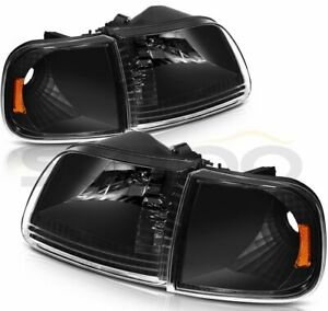Headlights Assembly For 1997 2003 Ford F 150 Headlamps Light Pair Replacement