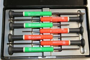 Matco Tools Red green 7 Piece Electronic Miniture Screwdriver Set