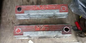 Vintage Sbc 327 350 383 M T Mickey Thompson Valve Covers Chevy Holley