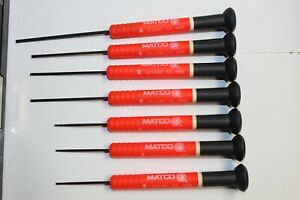Matco Tools Red 7 Piece Electronic Miniture Screwdriver Set Germany