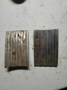 1946 1947 1948 Chevy Below Tail Light Trim Original Pair Fleetline Fleetmaster