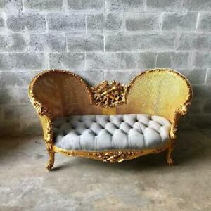 Modern French Louis Xv Style Marquise Sofa