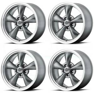 17x7 Ar105 Torq Thrust M 5x4 75 5x120 65 0 Gunmetal Lip Wheels Rims Set 4
