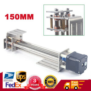 3 Axis Mini Cnc Z Axis Slide 150mm Diy Linear Motion Milling With Stepper Motor
