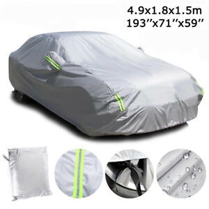 6 Layer Full Car Cover Waterproof Dust Outdoor Snow Uv Sun Protection For Sedan