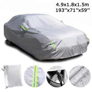 6 Layer Full Car Cover Waterproof Dust Outdoor Snow Uv Sun Protection For Sedan Fits 2012 Camaro