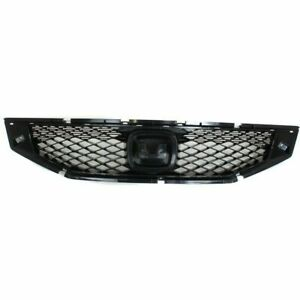 Front Grille Black Fits 2008 2009 2010 Honda Accord Coupe