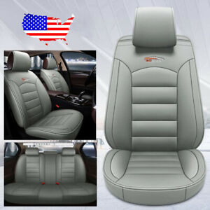 Gray 5 seat Car Leather Seat Covers For Hyundai Elantra Sonata Ix35 Kia Optima