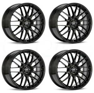 17x7 Enkei Ekm3 5x114 3 45 Gunmetal Paint Wheels Rims Set 4