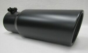 3 5 Inlet 4 5 Out 12 Long Flat Black Diesel Exhaust Tip Ford Powerstroke