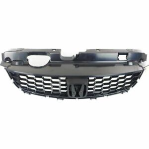 Front Grille With Lower Molding Black Fits 2004 2005 Honda Civic Coupe