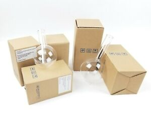 Boiling Flask Lot Of 5 2 Big 500ml 3 Small 250ml Round Bottom Short Neck