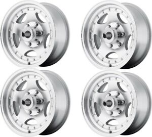 Set 4 15x7 American Racing Ar23 Machined 5x4 5 Wheels 6mm Truck Rims W Lugs