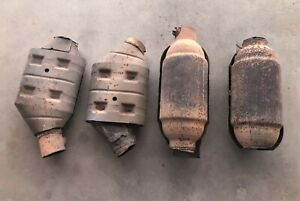 4 Catalytic Converter Scraps For Recycle Only Lincoln Navigator v 8