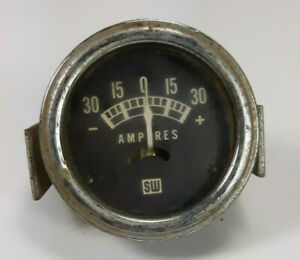Vintage Stewart Warner Amp Amperes Gauge Rat Hot Rod