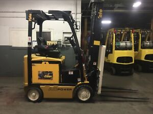 2016 Yale 4000 Lb Electric Forklift With Triple Mast And Ss fp
